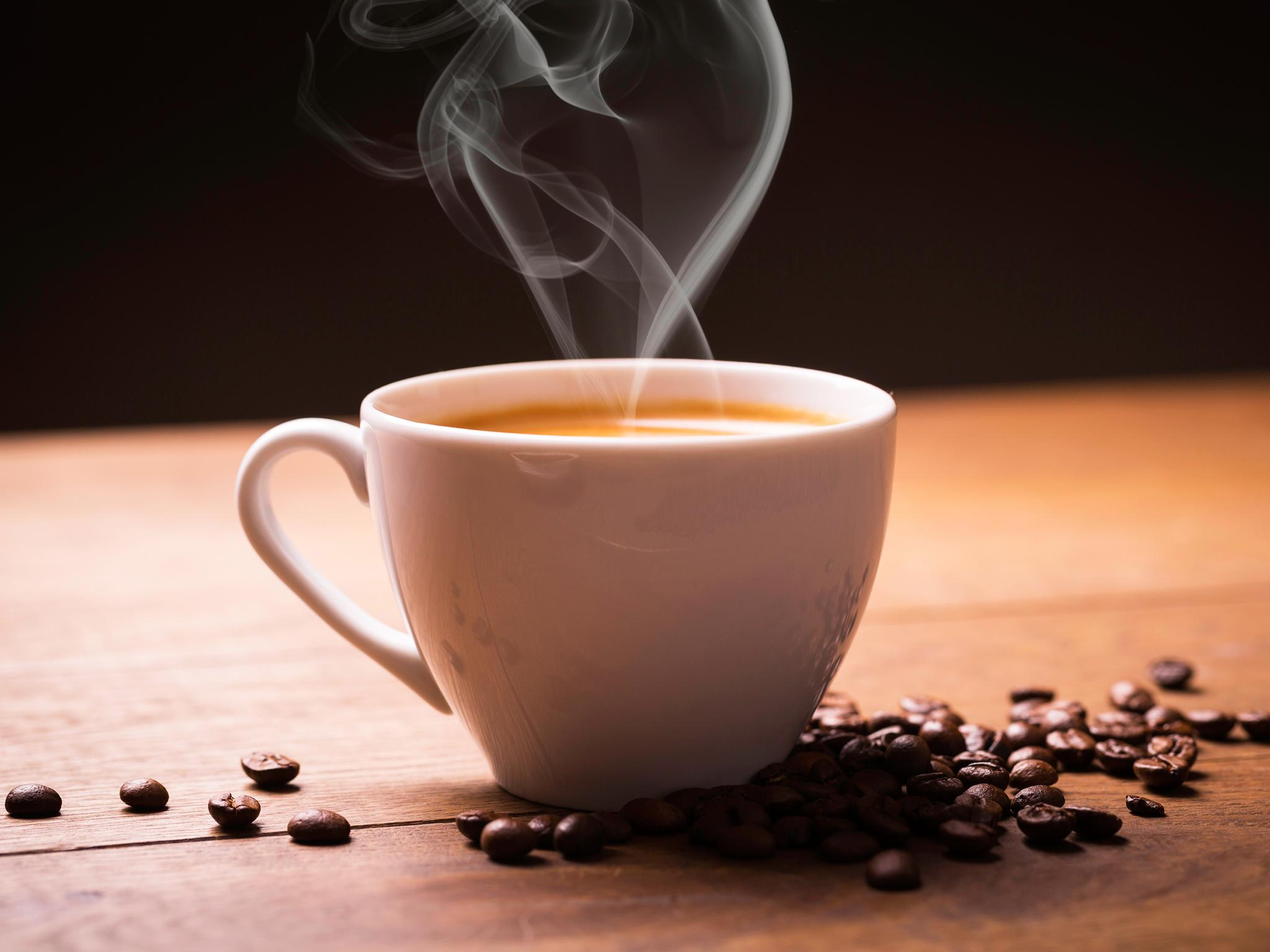 a sip of coffee