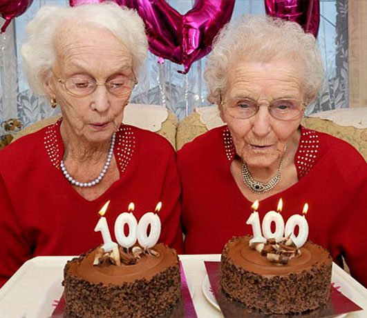 Sisters celebrating their 100th birthday